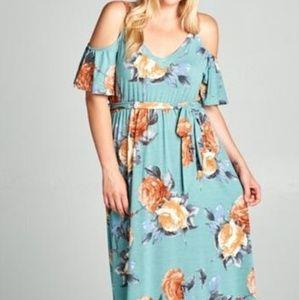 Dresses & Skirts - Plus size sage green maxi